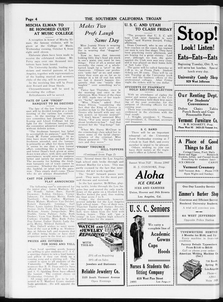 The Southern California Trojan, Vol. 8, No. 17, October 17, 1916