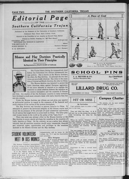 The Southern California Trojan, Vol. 11, No. 19, November 14, 1919