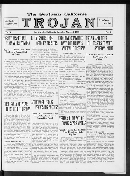The Southern California Trojan, Vol. 10, No. 4, March 04, 1919
