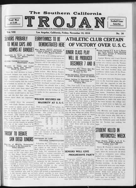 The Southern California Trojan, Vol. 8, No. 30, November 10, 1916