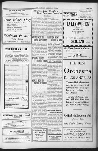 The Southern California Trojan, Vol. 12, No. 19, October 27, 1920