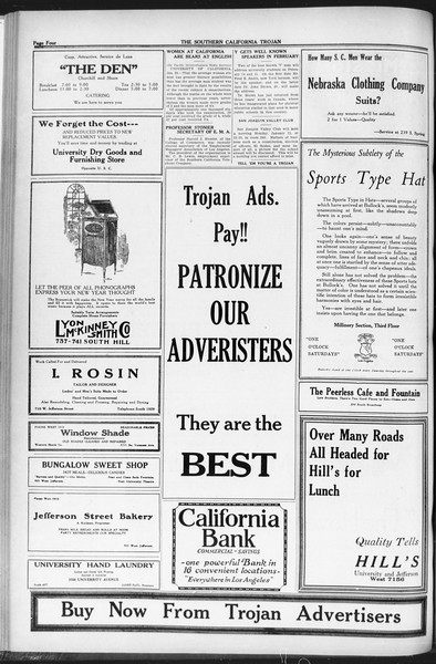 The Southern California Trojan, Vol. 12, No. 54, January 28, 1921