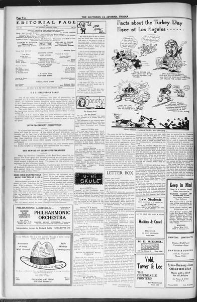 The Southern California Trojan, Vol. 12, No. 29, November 17, 1920