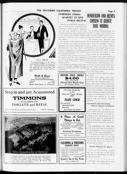 The Southern California Trojan, Vol. 8, No. 73, February 28, 1917