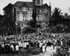 Campus farewell for students leaving for active duty in armed forces, USC, ca. 1944