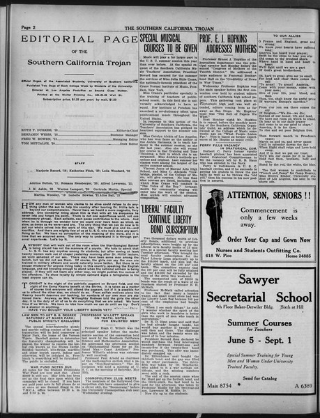 The Southern California Trojan, Vol. 9, No. 43, May 03, 1918