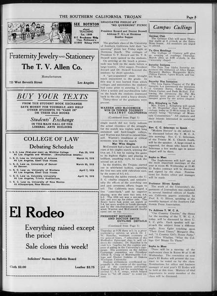 The Southern California Trojan, Vol. 7, No. 89, March 21, 1916