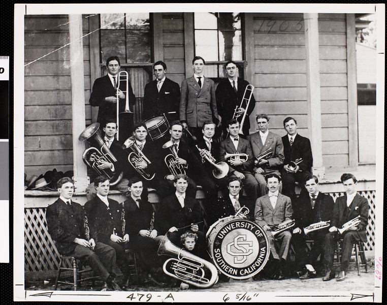 USC's first marching band, ca. 1880