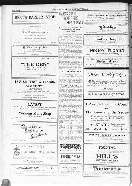 The Southern California Trojan, Vol. 12, No. 10, October 12, 1920