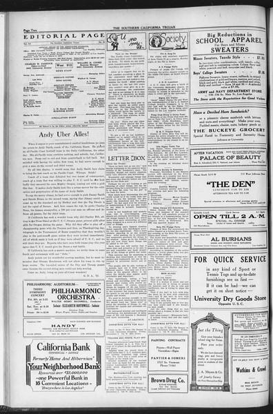 The Southern California Trojan, Vol. 12, No. 36, December 02, 1920