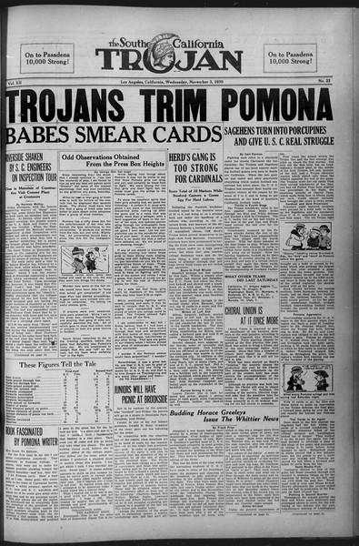 The Southern California Trojan, Vol. 12, No. 22, November 03, 1920