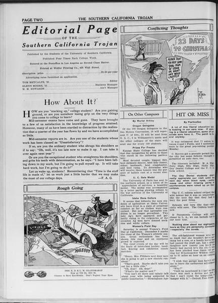 The Southern California Trojan, Vol. 11, No. 28, December 04, 1919