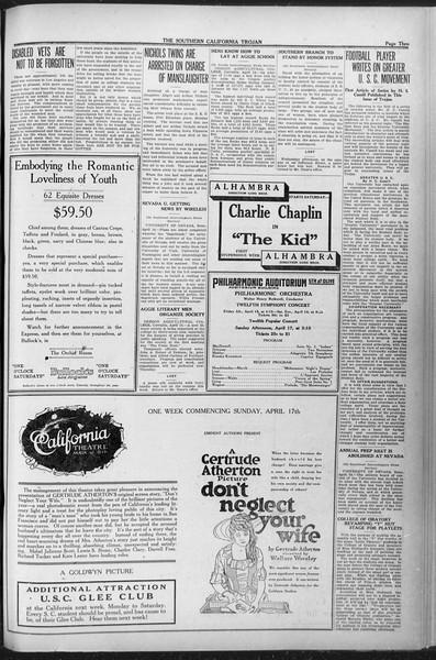 The Southern California Trojan, Vol. 12, No. 72, April 15, 1921