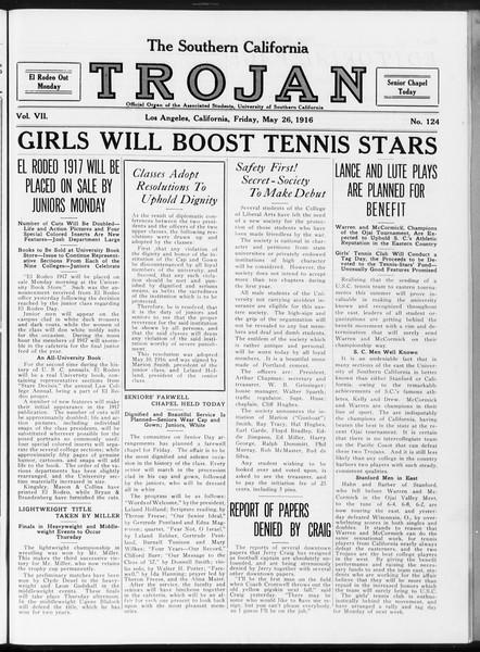 The Southern California Trojan, Vol. 7, No. 124, May 26, 1916