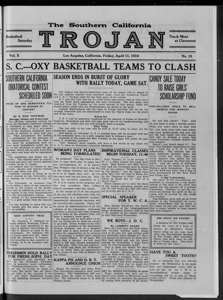 The Southern California Trojan, Vol. 10, No. 13, April 11, 1919