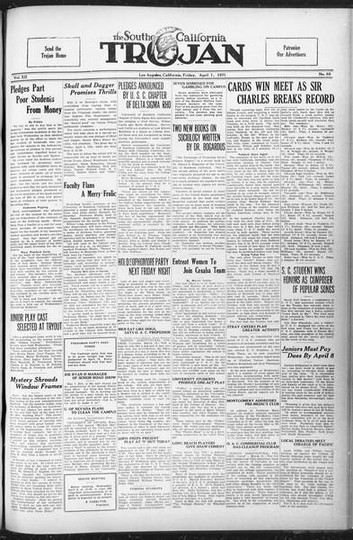 The Southern California Trojan, Vol. 12, No. 68, April 01, 1921