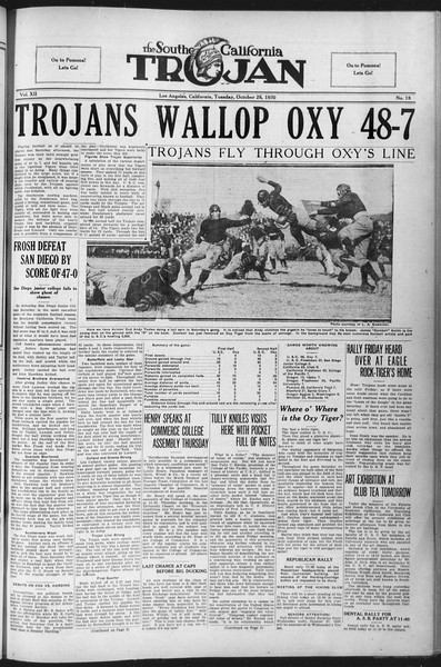 The Southern California Trojan, Vol. 12, No. 18, October 26, 1920