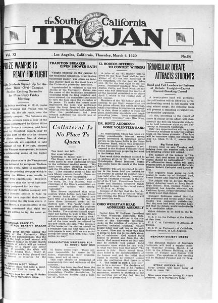 The Southern California Trojan, Vol. 11, No. 64, March 04, 1920