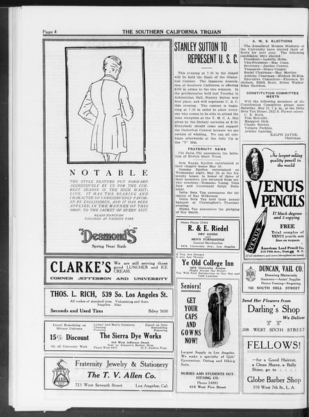 The Southern California Trojan, Vol. 10, No. 27, June 03, 1919