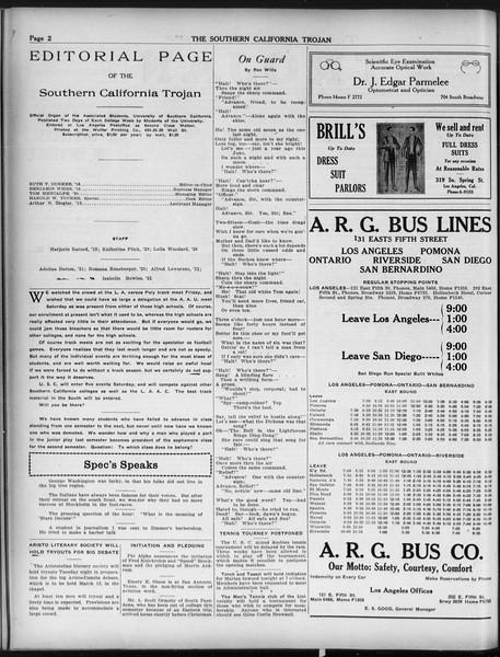 The Southern California Trojan, Vol. 9, No. 28, February 19, 1918