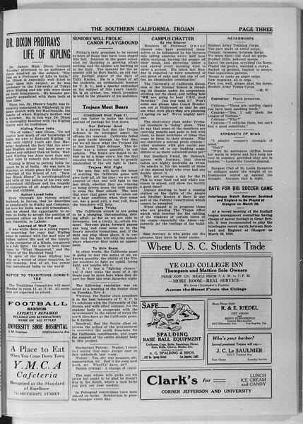 The Southern California Trojan, Vol. 11, No. 16, November 06, 1919