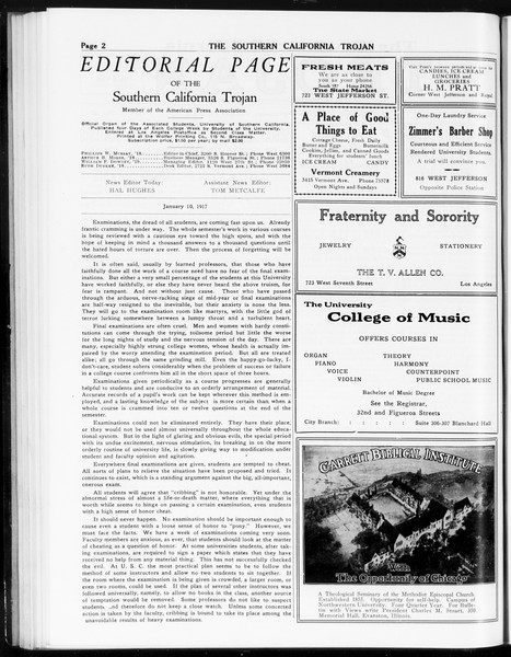 The Southern California Trojan, Vol. 8, No. 52, January 10, 1917