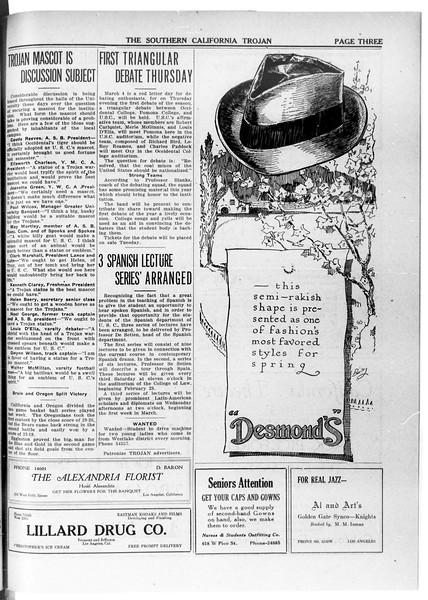 The Southern California Trojan, Vol. 11, No. 61, February 27, 1920