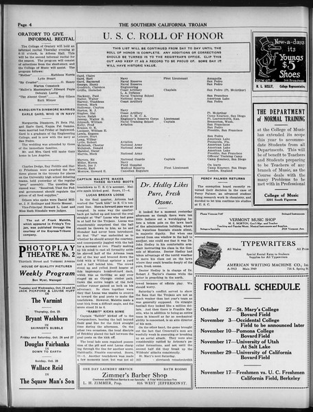 The Southern California Trojan, Vol. 9, No. 8, October 23, 1917