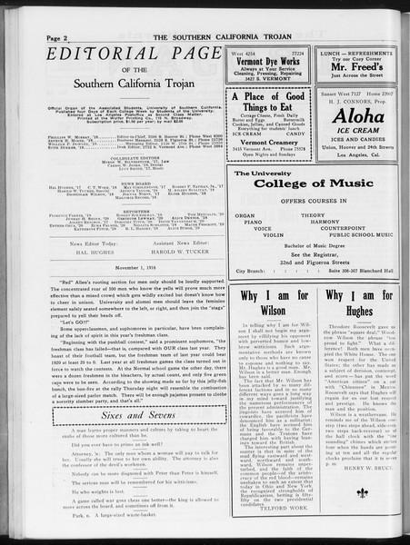The Southern California Trojan, Vol. 8, No. 26, November 01, 1916