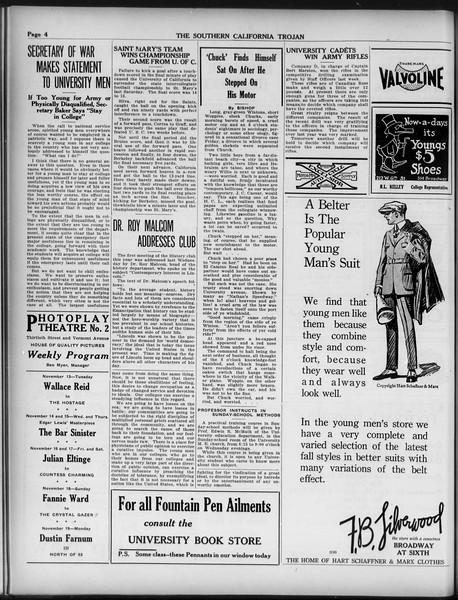 The Southern California Trojan, Vol. 9, No. 14, November 13, 1917