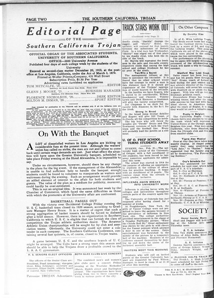 The Southern California Trojan, Vol. 11, No. 58, February 24, 1920