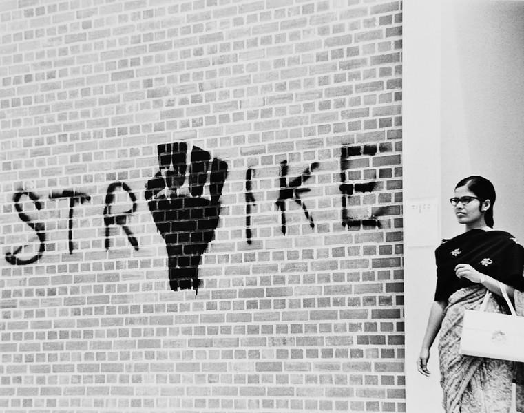 Strike graffiti, USC, ca.1970