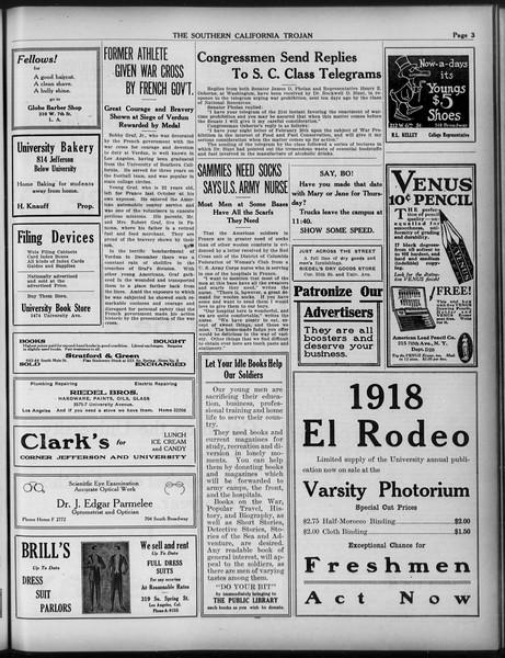 The Southern California Trojan, Vol. 9, No. 31, March 05, 1918