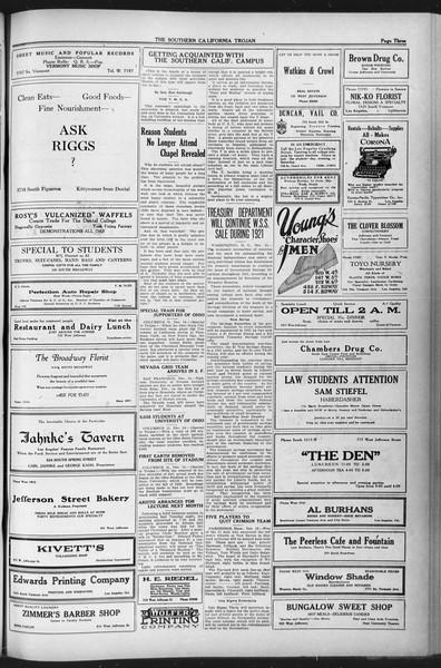 The Southern California Trojan, Vol. 12, No. 44, December 16, 1920