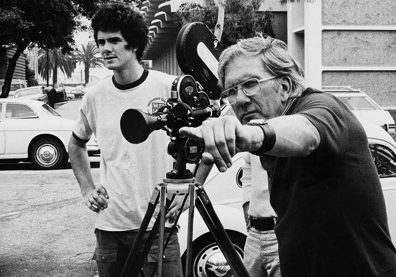Dave Johnson, USC filmmaker, instructing a student, [s.d.]