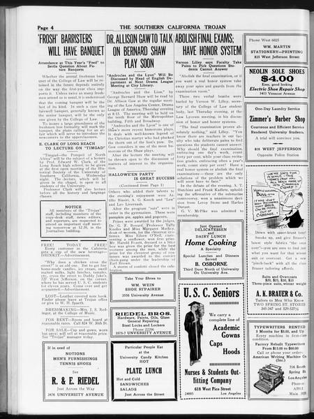 The Southern California Trojan, Vol. 8, No. 25, October 31, 1916