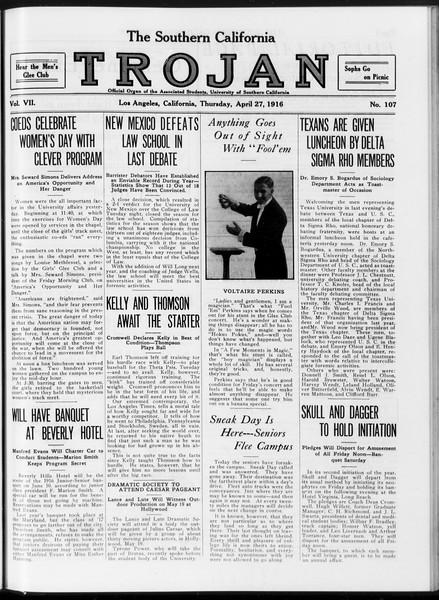 The Southern California Trojan, Vol. 7, No. 107, April 27, 1916