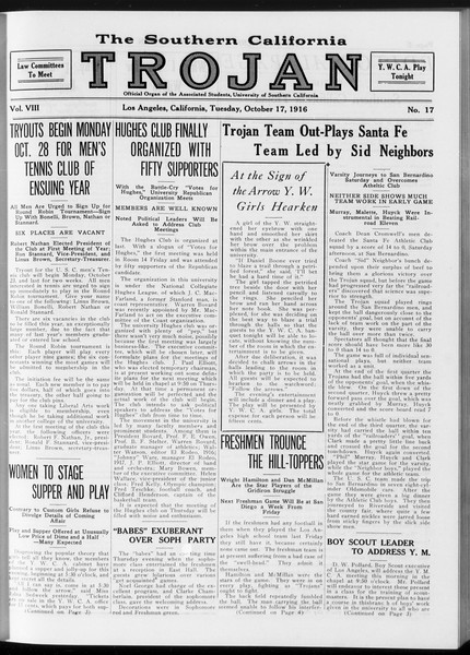 The Southern California Trojan, Vol. 8, No. 17, October 17, 1916