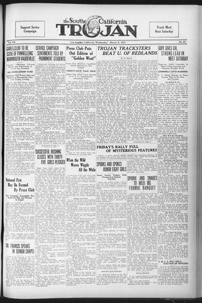 The Southern California Trojan, Vol. 12, No. 63, March 09, 1921