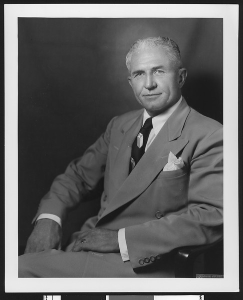 Former University of Southern California football assistant coach Gordon Campbell, ca. 1940-1960.