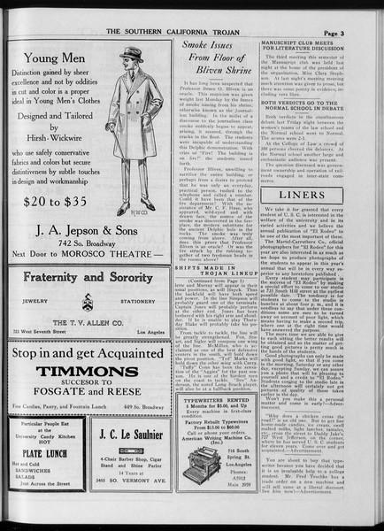 The Southern California Trojan, Vol. 8, No. 40, November 28, 1916