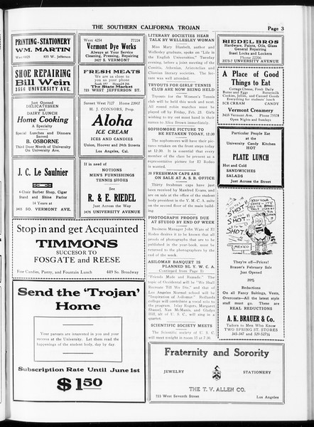 The Southern California Trojan, Vol. 8, No. 68, February 15, 1917