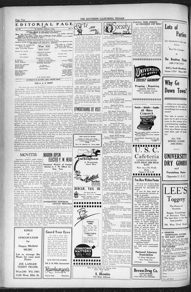 The Southern California Trojan, Vol. 12, No. 71, April 13, 1921