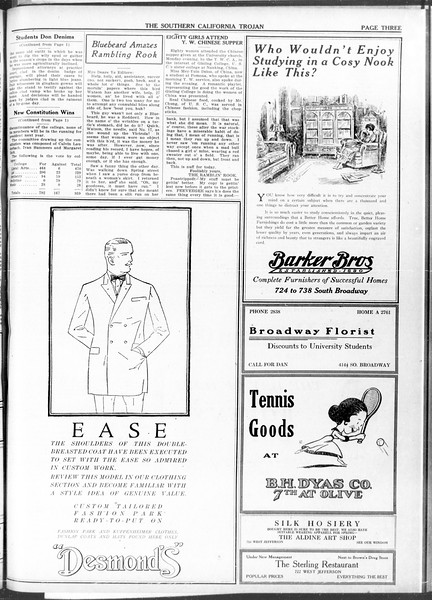 The Southern California Trojan, Vol. 11, No. 87, April 23, 1920