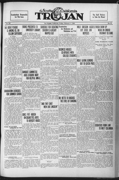 The Southern California Trojan, Vol. 12, No. 56, February 04, 1921