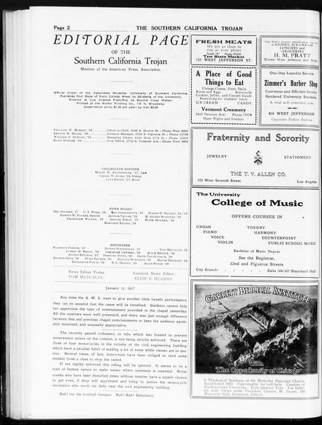 The Southern California Trojan, Vol. 8, No. 53, January 11, 1917