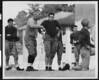 University of Southern California football coach Howard Jones at football practice, coaching the varsity team. Bovard Field, mid-1930s.