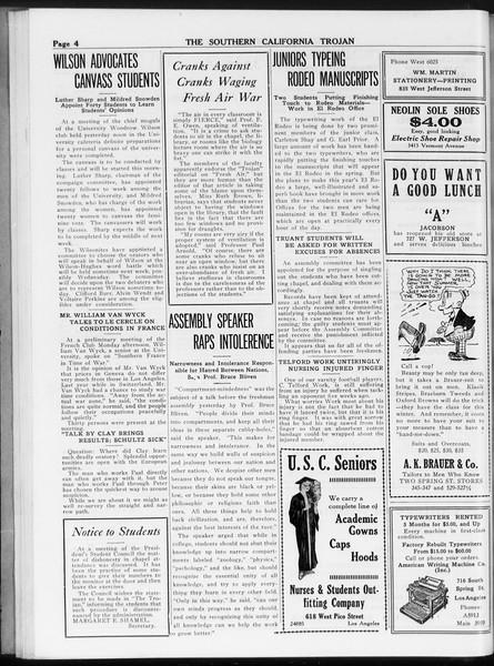 The Southern California Trojan, Vol. 8, No. 23, October 26, 1916
