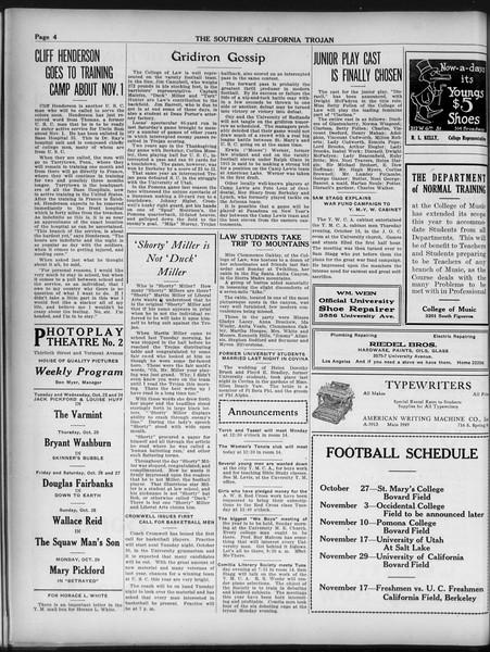 The Southern California Trojan, Vol. 9, No. 9, October 26, 1917