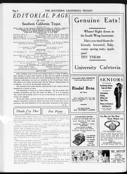 The Southern California Trojan, Vol. 7, No. 105, April 25, 1916